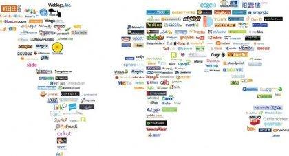 Social Media Weltkarte