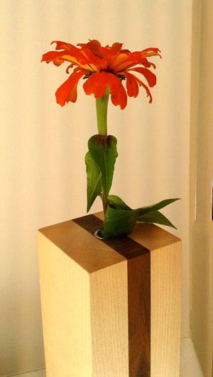 Blumenvase-Holz