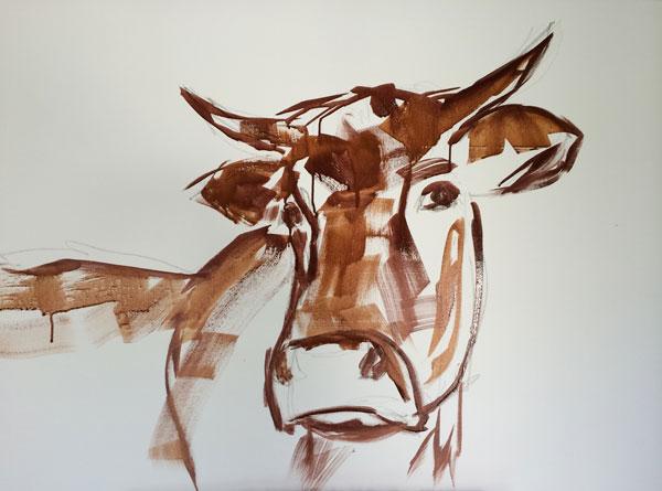 Striche? Numbencore ist schon am ersten Tag unverkennbar eine Kuh.