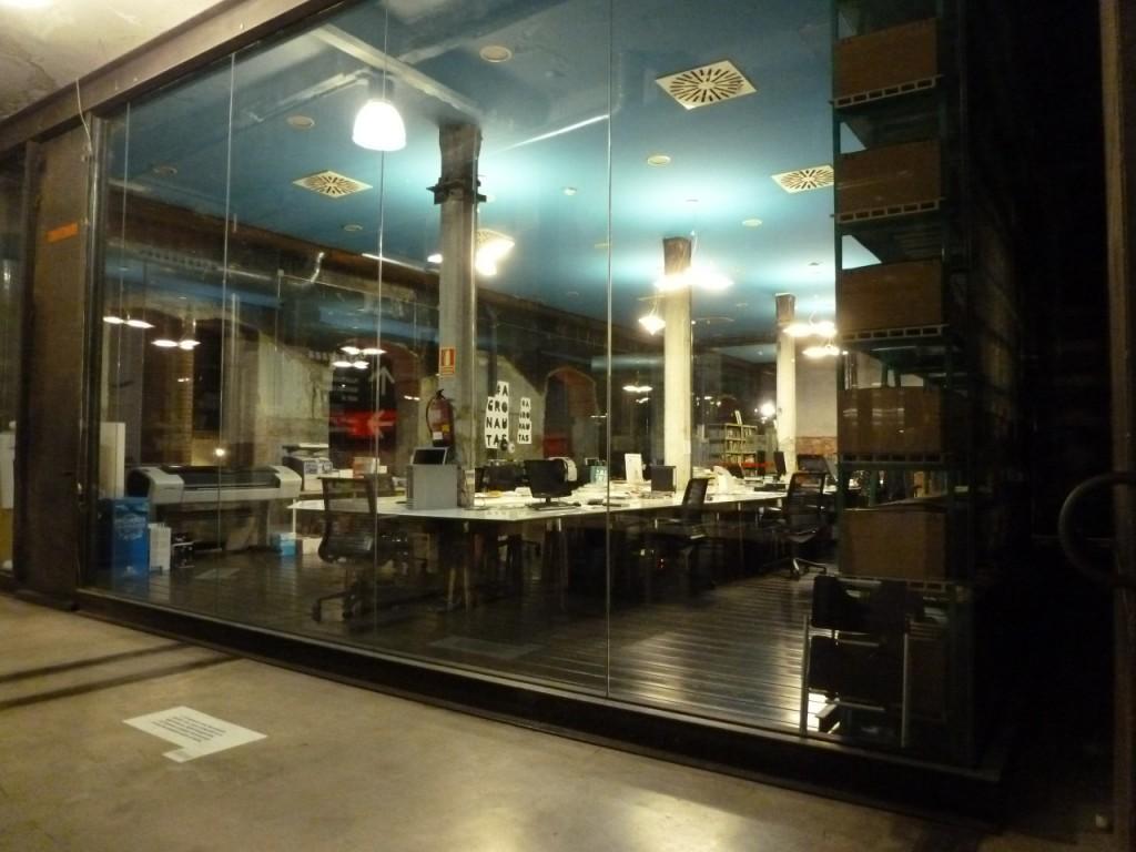 Arbeitsräume und Bibliotheken gehören im Matadero offenbar dazu.